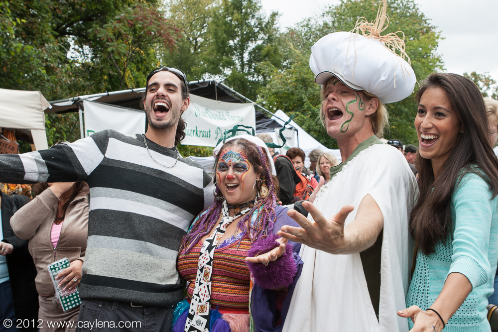 People enjoy the Garlic Festival in Saugerties. (Sept. 29, 2012)