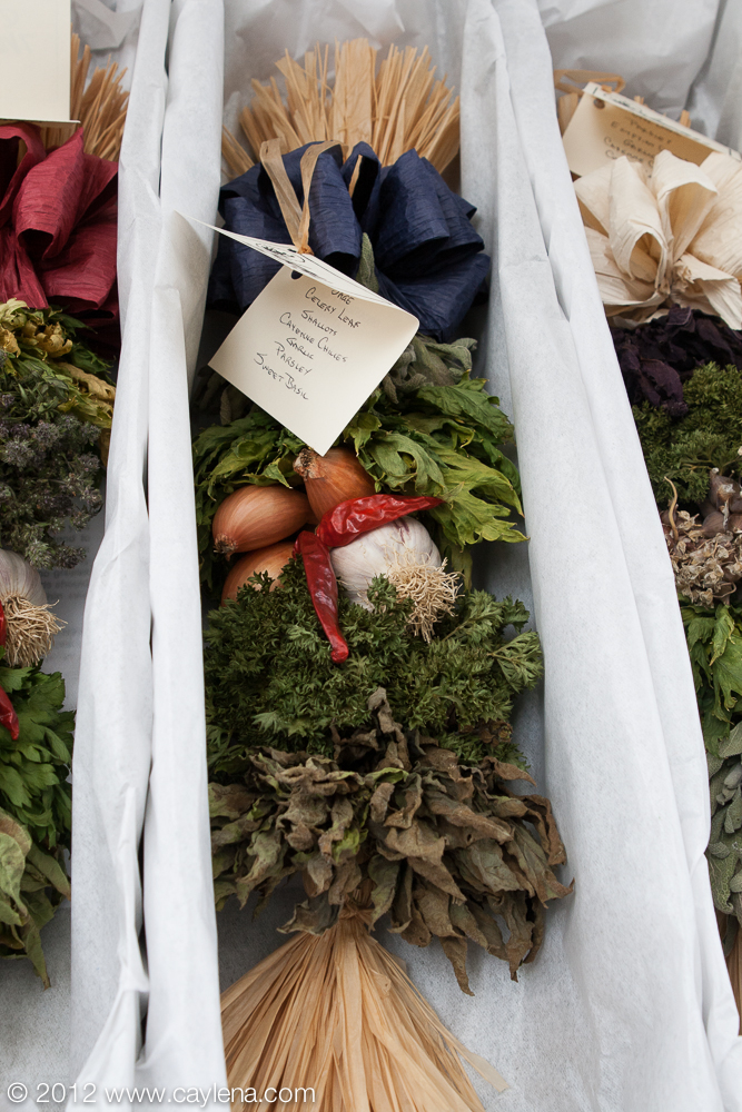 The Northeast Corner Herb Farm, of Fort Ann, makes and sells these 'Herbal Braids,' made from several different edible, culinary grade herbs, which can be used for cooking and decoration. A salesperson said they typically last about a year for cooking and about 5 years for decorations. (Sept. 29, 2012)