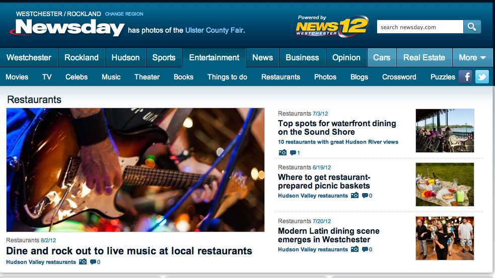 My photo on Newsday NY Restaurants - Cover
