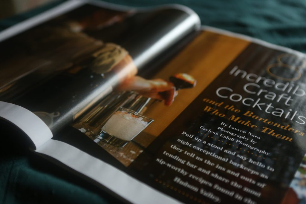 Hudson Valley Food & Beverage Photographer Caylena Cahill Photography featured in Hudson Valley Magazine