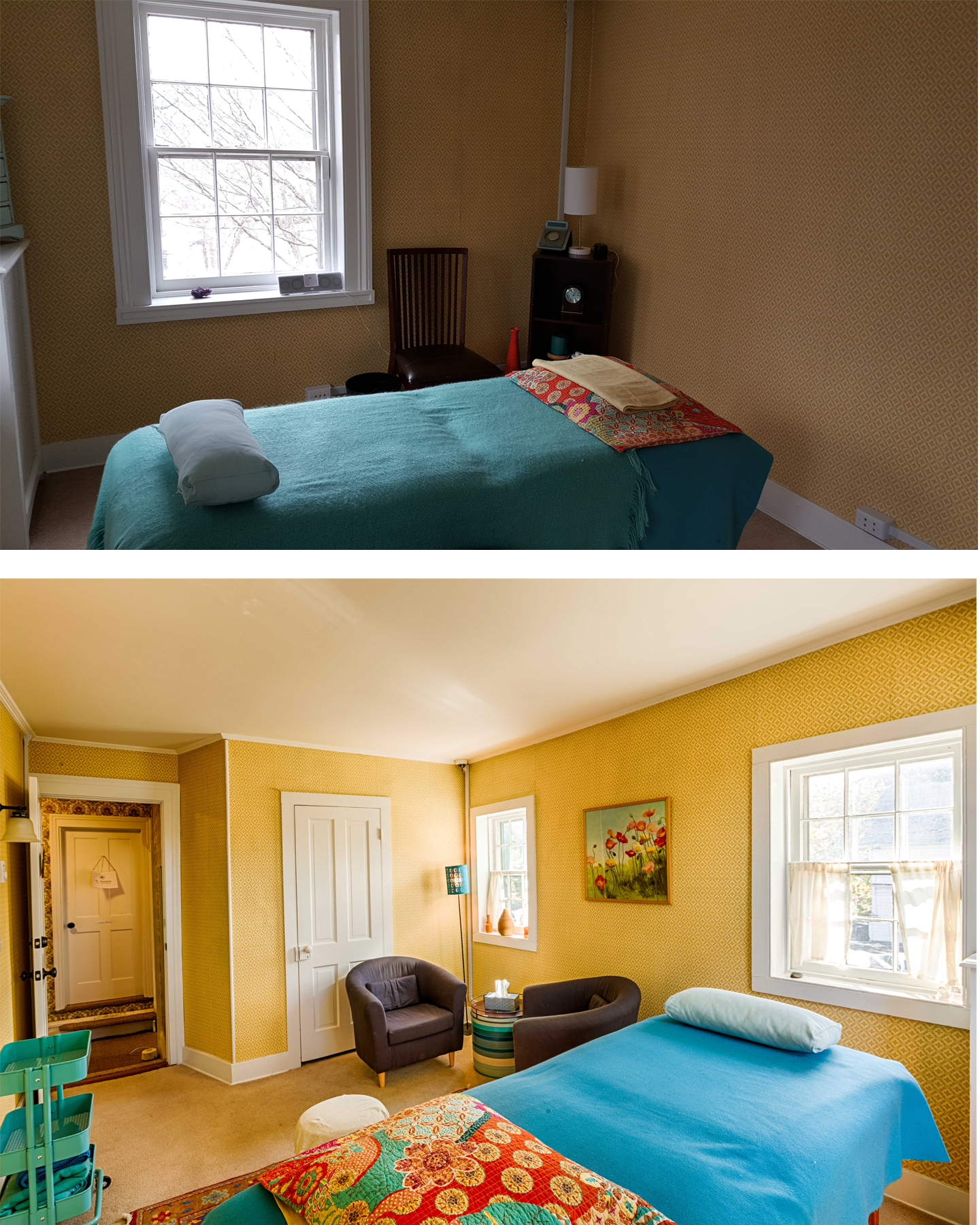 Client Photo Side by Side Comparison: Interior/Real Estate Photo