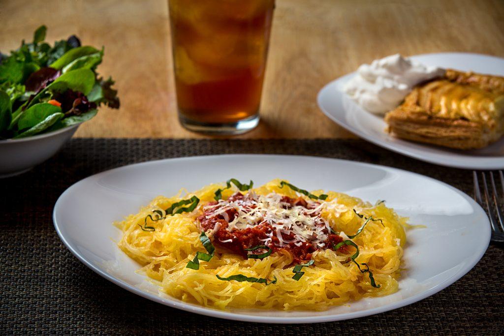 spaghetti squash dinner