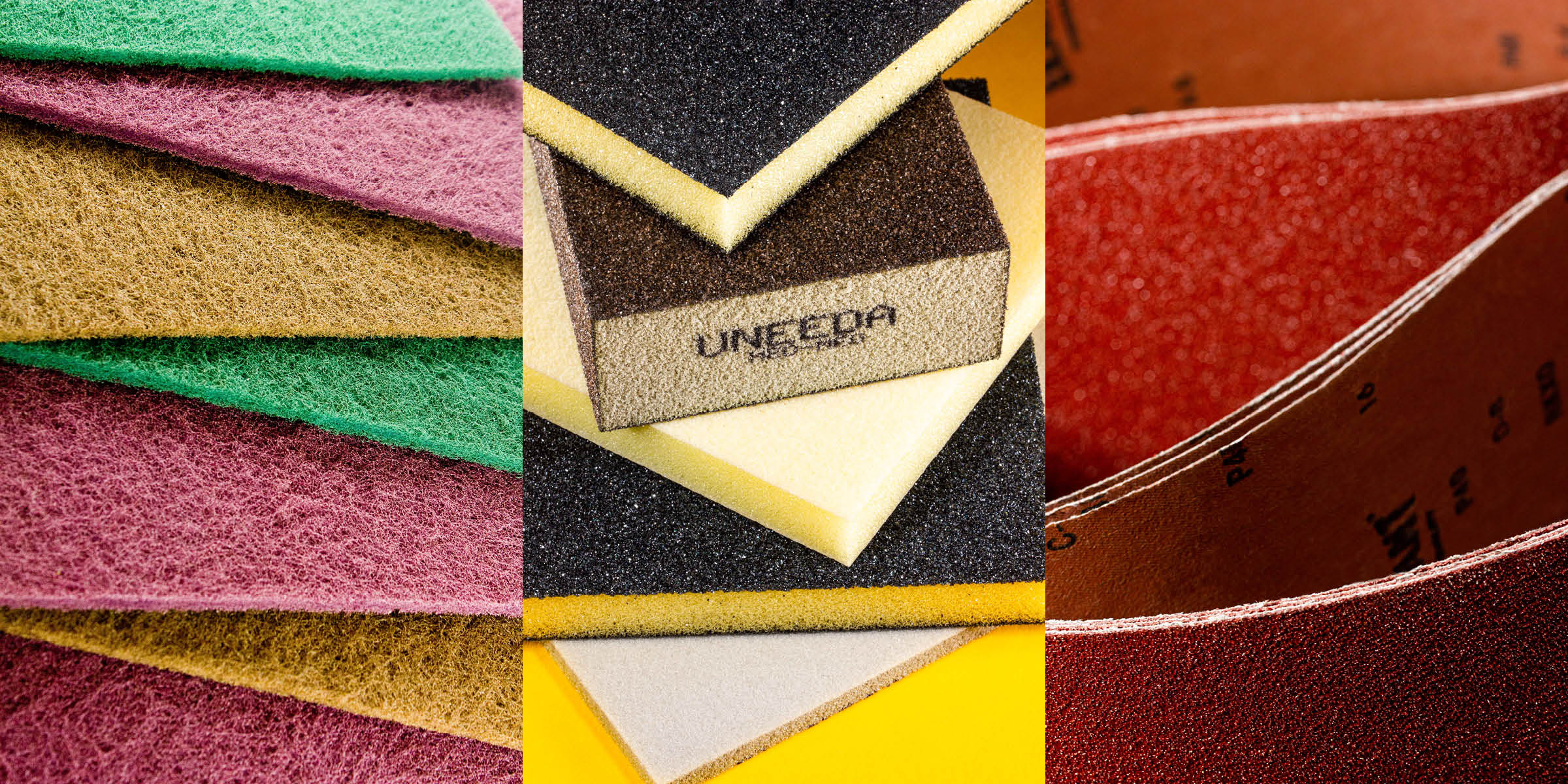 Abrasives Triptych - Product Photography by Hudson Valley NY Photographer Caylena Cahill